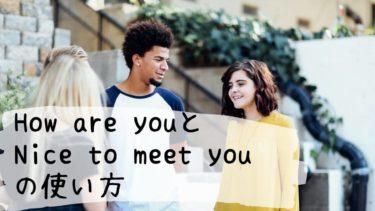 オンライン英会話  How are youとNice to meet youの使い方【初心者用】